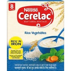 NESTLE CERELAC RICE VEGETABLE 300G(BABY CEREAL WITH MILK)