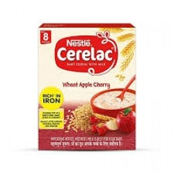 NESTLE CERELAC WHEAT APPLE 300G(BABY CEREAL WITH MILK)