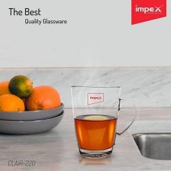 IMPEX GLASSWARE CLAIR 220 (SET OF 6)