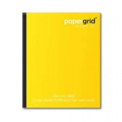 PAPERGRID UNRULED NOTEBOOK 156 PAGES (19x15.5 CM)