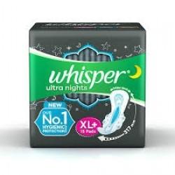 WHISPER BINDAZZ NIGHTS XL+ 15 PADS
