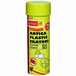 CAMEL ARTICA PLASTIC CRAYONS 12 SHADES (FREE GOLDEN SHADE INSIDE)