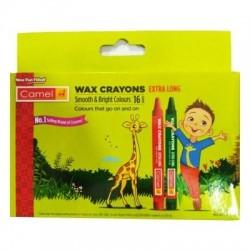 CAMEL WAX CRAYONS EXTRA LONG 16 SHADES